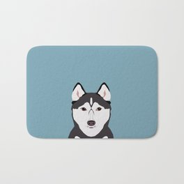 Shiloh - Husky Siberian Husky dog art phone case perfect gift for dog people Bath Mat