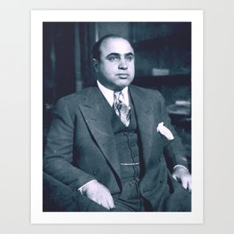 Al Capone Portrait Shot Art Print