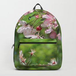 Light Pink Crab Apple Tree Branch Backpack