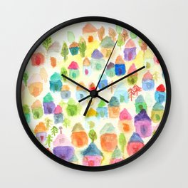 Village of Thousand House Wall Clock