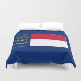 North Carolina State Flag Duvet Cover