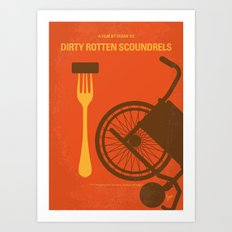 No536 My Dirty Rotten Scoundrels minimal movie poster Art Print