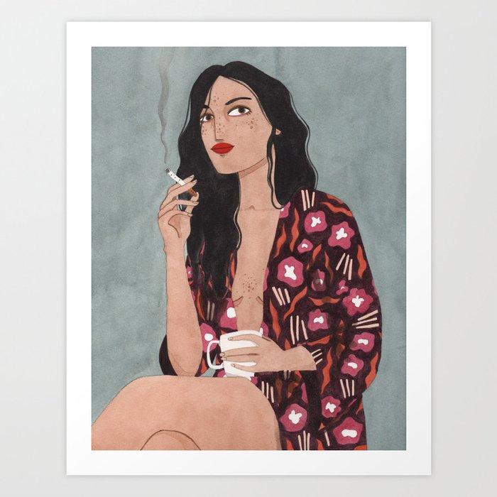 Coffe and cigarettes Art Print