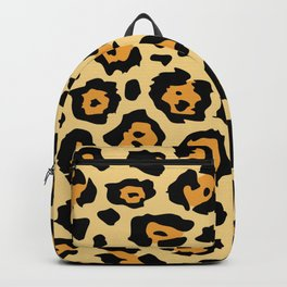 safari animal brown and tan cheetah leopard print Backpack