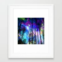 decal Framed Art Prints featuring fantasy sky by haroulita