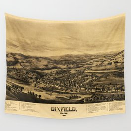 Aerial View of Dixfield, Maine (1896) Wall Tapestry