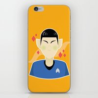 spock iPhone & iPod Skins featuring spock by monsternist