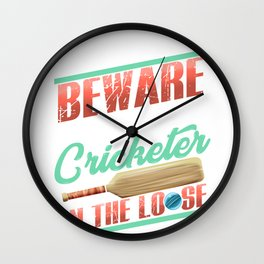 Serial Cricketer on the Loose Cricket Lover Wall Clock