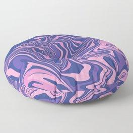 Purple & Navy Agate Slice Floor Pillow