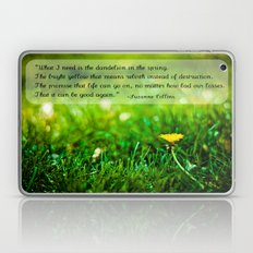 The Hunger Games Dandelion Quote  Laptop & iPad Skin