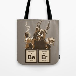 Funny chemistry bear discovered beer Tote Bag