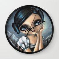 leia Wall Clocks featuring Leia by ZELYSS
