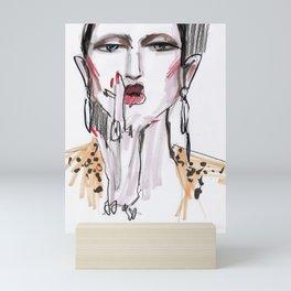 Smoking #fashionsketch Mini Art Print
