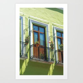 Balconies of Puebla  Art Print