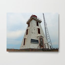 Cape Egmont Lighthouse and Communication Tower Metal Print