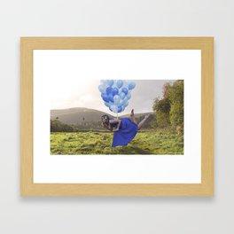 away with the butterflies Framed Art Print