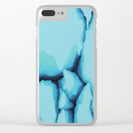 Glacial Fragmentation Clear iPhone Case