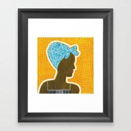 How to Wear a Head Scarf Framed Art Print
