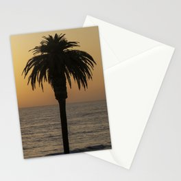 Glowing Palm Tree Sunset Stationery Cards