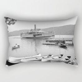 The Sagamore Lands at Roger's Slide Boathouse Rectangular Pillow
