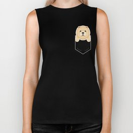Chow Chow In My Pocket Cute Dog Owner Biker Tank