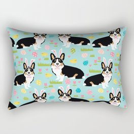 Corgi easter dog breed pattern pet art tricolored corgis easter dog lover gifts Rectangular Pillow