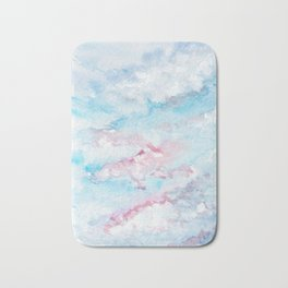 Pink and Blue Clouds . Sky Bath Mat