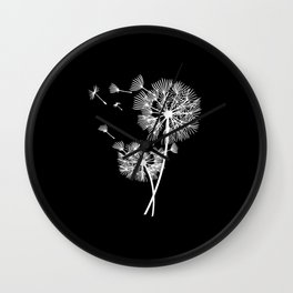 Dandelion Lucky Charm Floral print flowers gift Wall Clock
