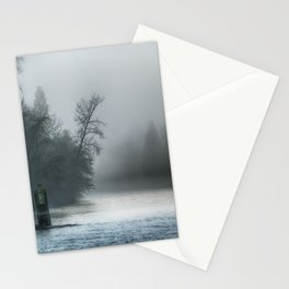 Remnant Of A Washed Out Bridge On A Foggy Afternoon Stationery Cards
