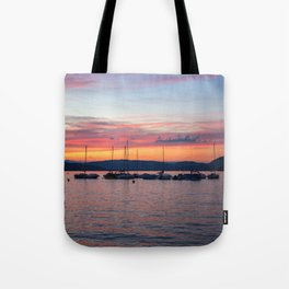 Sunset Lake Annecy Tote Bag