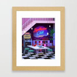 Synthwave And Chill Framed Art Print