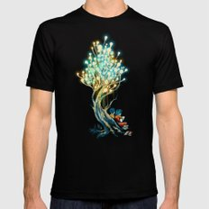 ElectriciTree Black Mens Fitted Tee LARGE