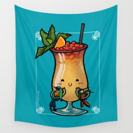 Food Series - Trinidad Cobbler (blue) Wall Tapestry