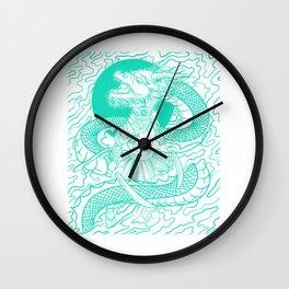 Bushido Knight Samurai Warrior Gift And Dragon Japanese Design Wall Clock