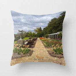 Italian Garden at Maymont Throw Pillow