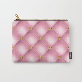 Luxury Tufted Gold Diamond 8 Carry-All Pouch