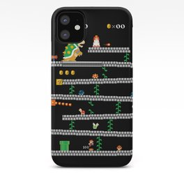 Super Mario x Donkey Kong level mockup iPhone Case