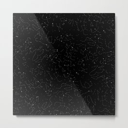 Constellations - pattern Metal Print