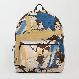 Miniature Original - blue brown beige Backpack