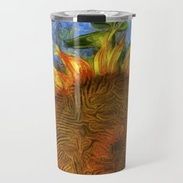 Sunflowers Vincent Van Goth Art Travel Mug