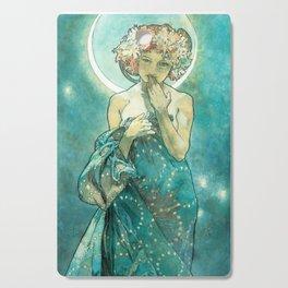 Alphonse Mucha Moonlight Art Nouveau Cutting Board
