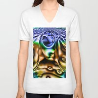 lsd V-neck T-shirts featuring LSD by Robin Curtiss