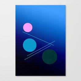 The 3 dots, power game 18 Canvas Print