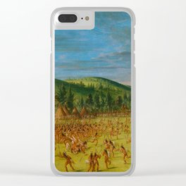 George Catlin - Ball-play of the Choctaw Clear iPhone Case