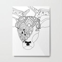 Deer with Style Metal Print