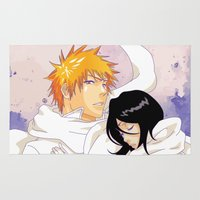 bleach Area & Throw Rugs featuring Bleach: Ichigo X Rukia by Neo Crystal Tokyo