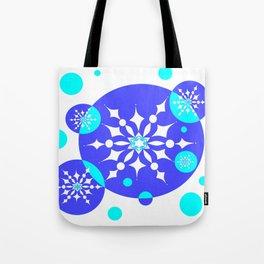 A Delightful Winter Snow Design Tote Bag