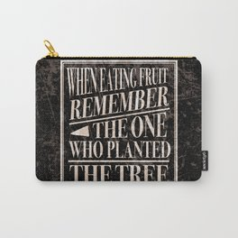 Wise Words of Gratitude Carry-All Pouch