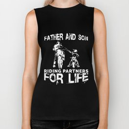 Father And Son Riding Partners  dad Biker Tank