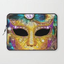 Golden Carnival Mask Laptop Sleeve